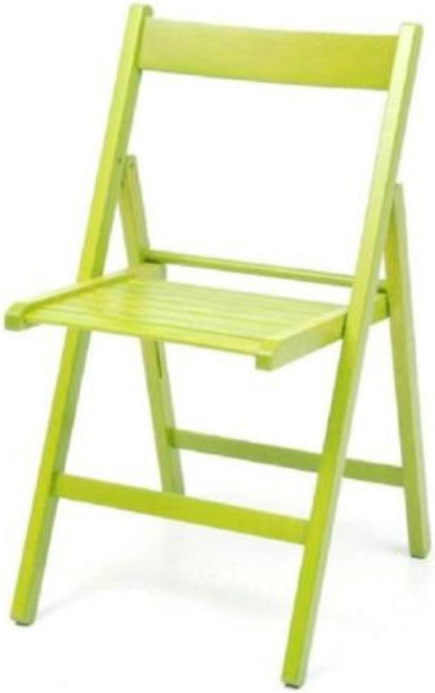 4 sedie pieghevole sedia birreria in legno verniciato VARI COLORI richiudibile per campeggio casa e giardino (BLEU)