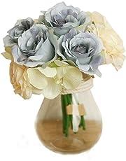 Xinantime Flores Artificiales,Xinan Flores de Rosa Decoración para Hogar Boda