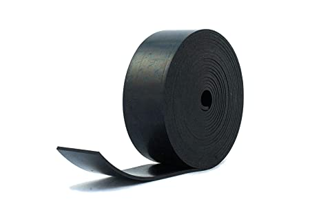 Solid Neoprene Black Rubber Strip Rubber Strip 50mm Wide x 5mm Thick x 5m Long