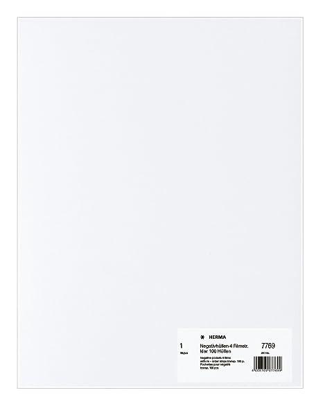 570c2c7ca Herma 7769 - Paquete de 100 fundas para negativos: Amazon.es ...