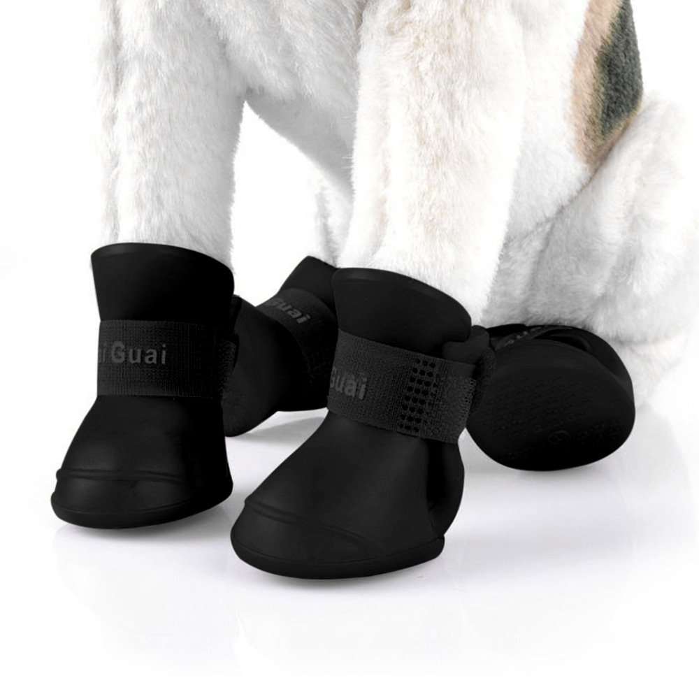 DierCosy 2 Pair Durable Dog Cat Rain Shoe Snow-Proof Boot Household Supplies