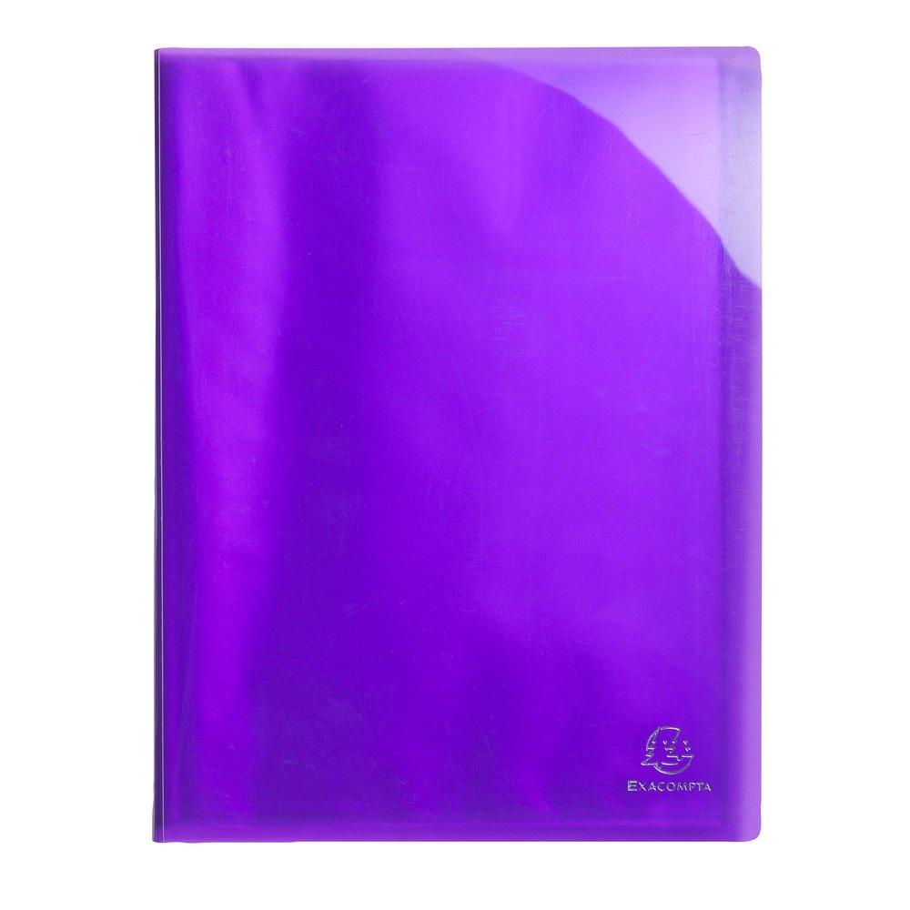 Exacompta 85876e –  Raccoglitore a 40 Buste, A4, colore: viola