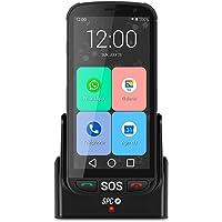 SPC Apolo - Smartphone con Whatsapp para Personas Mayores, botón SOS, Botones físicos para Colgar y descolgar, Base de…