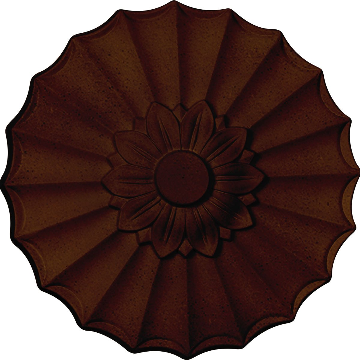 Ekena Millwork CM09SHRZS 9'' OD X 1 3/8'' P Shakuras Ceiling Medallion fits Canopies up to 1, Rubbed Bronze