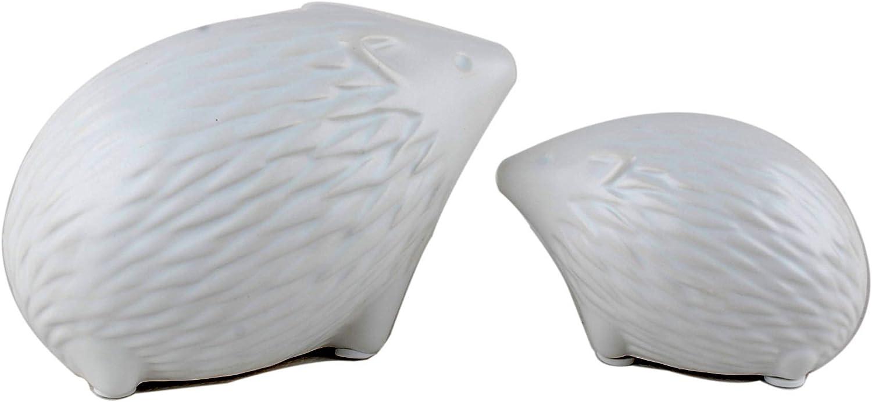 NWFashion Ceramic Animal Figurines Home Decoration Furniture Desktop Display (White Hedgehog)