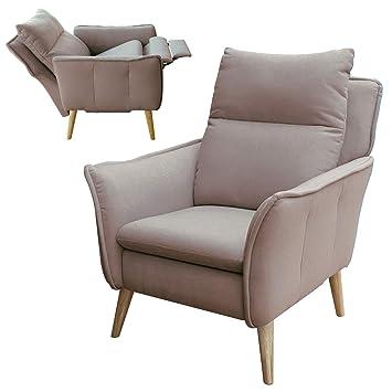 Ohrensessel modern  Lounge-Relax-Sessel skandinavisch + Hocker als Ohrensessel modern im ...