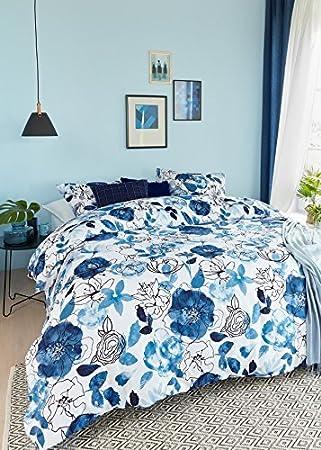 Beddinghouse Bettwäsche Floral Sketch Blau 240x220 Amazonde Küche