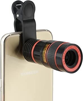 BlueBeach® Clip telescopio zoom de la cámara del teléfono móvil ...