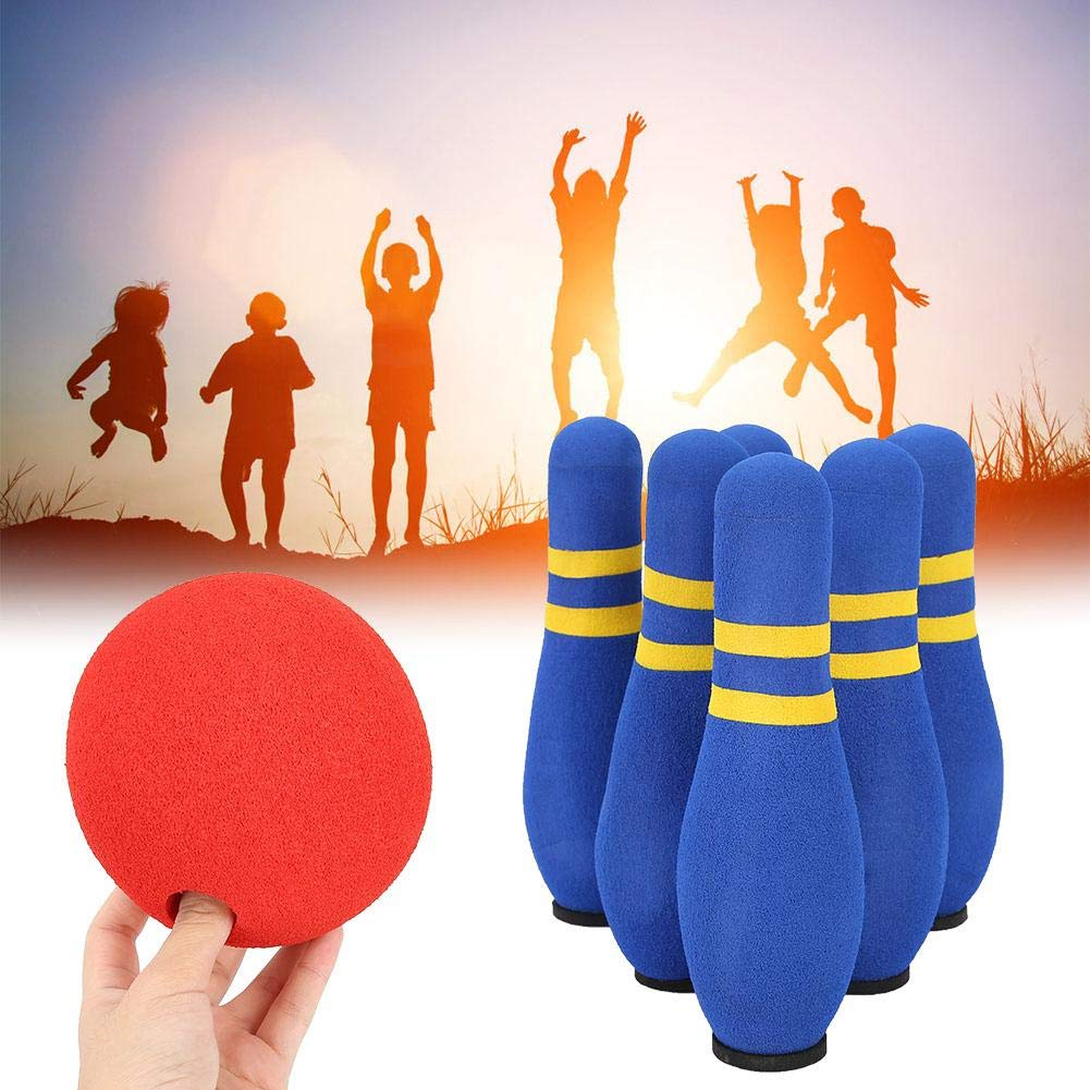 Alomejor Mini Bowling Spielset Bowling Bottle Interaktives Soft Bowling Spiel Set Kegelspiel f/ür Kinder und Erwachsene