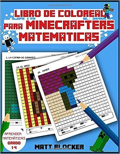 Amazoncom Libro De Colorear Para Minecrafters Matemáticas