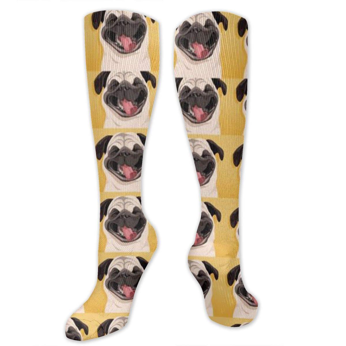 Chanwazibibiliu Pug Mens Colorful Dress Socks Funky Men Multicolored Pattern Fashionable Fun Crew Cotton Socks