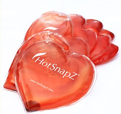 1 Red Heart Shaped Large Hand Warmers Hot Pods Reusable Gel Hand Warmers