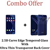 Kavacha (TM) Huawei Honor 8 Tempered Glass and Back Cover Combo for Huawei Honor 8
