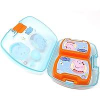 Kids Lunchbox ideal f/ür Schule Kindergarten oder Freizeit 3in1 Peppa Wutz Kinder Brotdose Brotbox f/ür Kinder