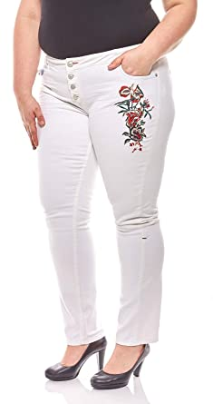 H.i.s. Pantalones Vaqueros de Moda para Mujer con Bordados ...