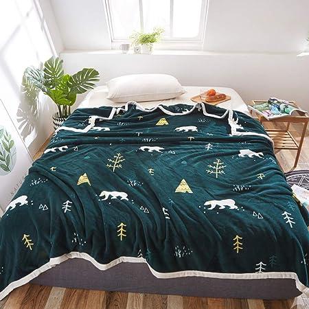 Sábanas encimeras Cartoon, Sábana de algodón Anime Invierno Engrosamiento Dormitorio Estudiante Franela Manta pequeña Niños Sábana Bajera 1 pc-Verde 135x200cm(53x79inch): Amazon.es: Hogar
