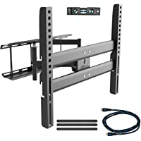 Wall Articulating TV Mount Bracket for Most 37-70 inches Plasma (Black)