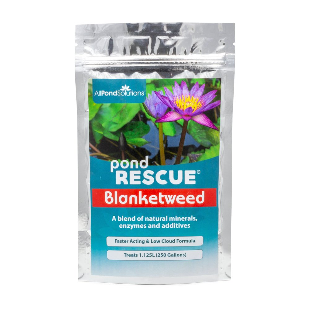 All Pond Solutions PondRescue Blanket Weed Treatment for Ponds 1KG - Treats 11250 Litres (2500 Gallons) PR-BLANKET-1KG