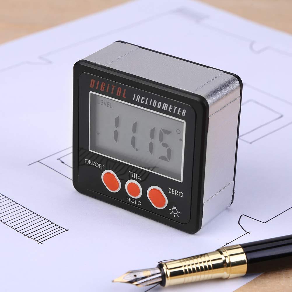Globalflashdeal Tragbares Winkelmessger/ät Pr/äzisions-Winkelmesser-Neigungsmesser mit digitalem Neigungsmesser und Magnetfu/ß