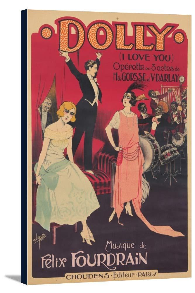 ドリーヴィンテージポスター(アーティスト: Clerice )フランスC。1922 11 7/8 x 18 Gallery Canvas LANT-3P-SC-73975-12x18 11 7/8 x 18 Gallery Canvas  B01DZ1Z9DI