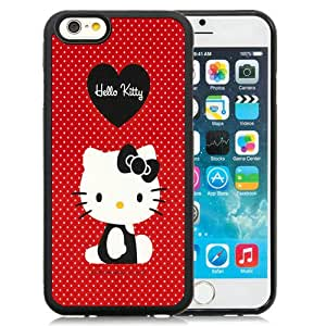 Hot Sale iPhone 6/iPhone 6S 4.7 Inch TPU Case ,Red Hello Kitty Black iPhone 6/iPhone 6S Cover Unique And Popular Designed Phone Case