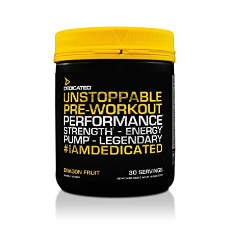Dedicated Nutrition Unstoppable Pre-Workout, Dragon Fruit, 10.58 Ounce