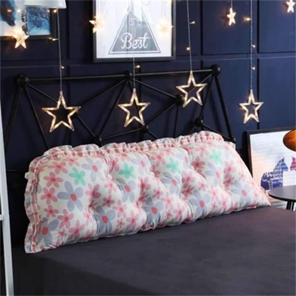 JXQ Persönlichkeit Koreanische Kinderzimmer Prinzessin Nette Einfache Streifen Baumwolle Rückenlehne Bett Kissen Waschbar Cartoon Kissen, 19 Farben & 5 Größen ( Color : R , Size : 150x18x55cm )