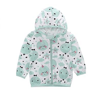 800a0e530 Amazon.com: kaiCran 2018 New Toddler Kids Summer Sunscreen Jackets Printing  Hooded Outerwear Zipper Coats: Clothing