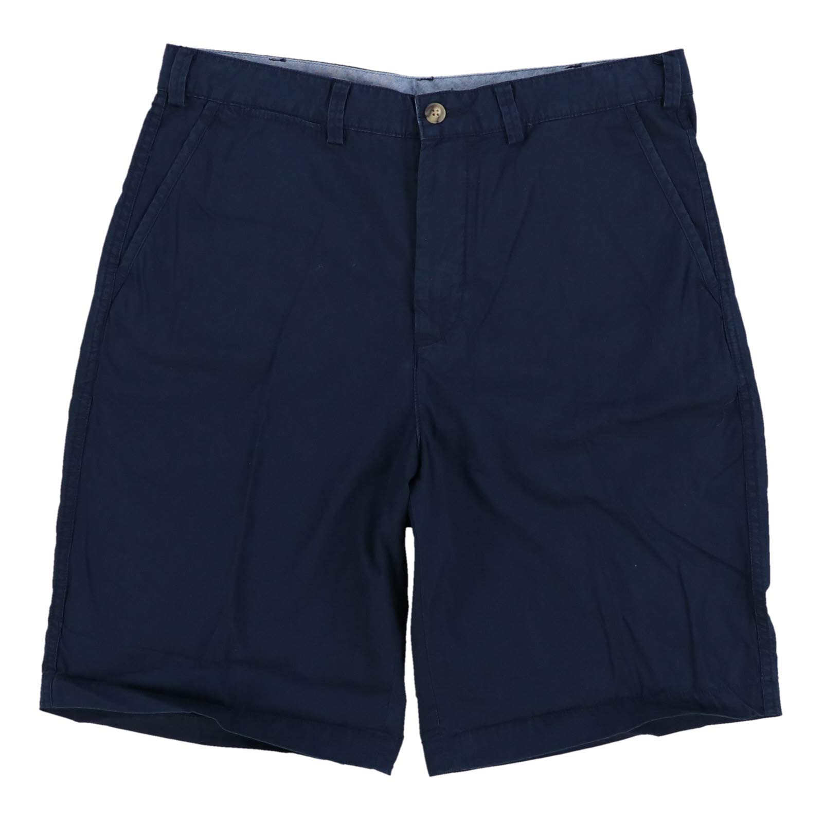 Polo Ralph Lauren Mens Classic-Fit Flat Front Casual Shorts, 35, Navy