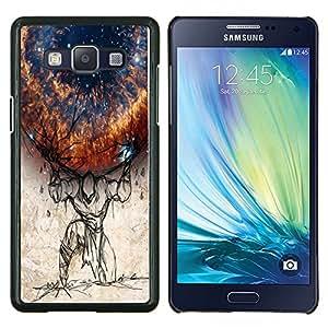 TECHCASE---Cubierta de la caja de protección para la piel dura ** Samsung Galaxy A5 ( A5000 ) 2014 Version ** --Planeta al hombro