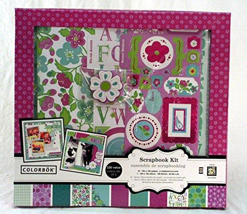 Wild Lilacs 12x12 inch Scrapbook Kit (Scrapbook Kit Colorbok)