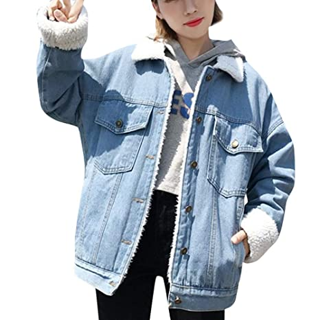 Amazon.com: Anboo Denim Jacket, Womens Retro Button Bomber ...