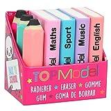 Depesche TopModel 8780 Mini Eraser Set School Books and Pens Multi-Coloured