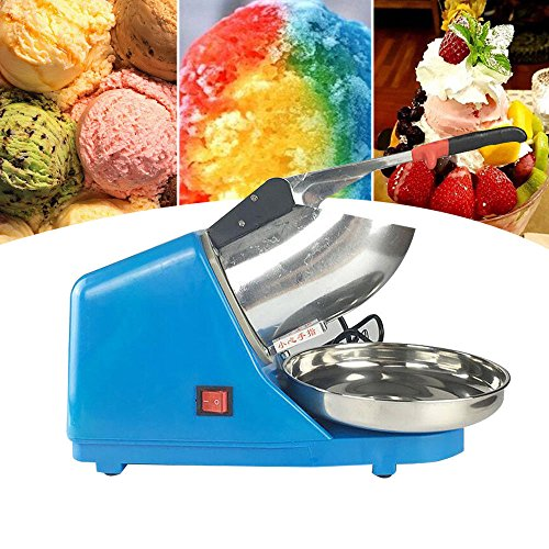 Fabricadora de Hielo, Trituradora y picadora de hielo eléctrico Máquina de Hielo eléctrico Ice Crusher, Aluminio, 380W (Azul): Amazon.es: Hogar