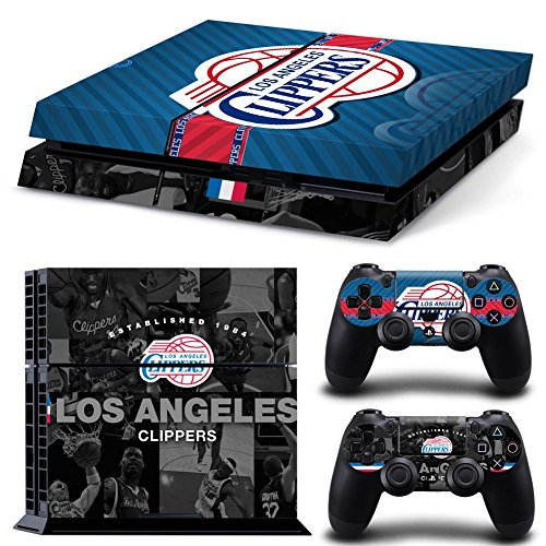 FriendlyTomato PS4 Console and DualShock 4 Controller Skin Set - Basketball NBA - PlayStation 4 ()