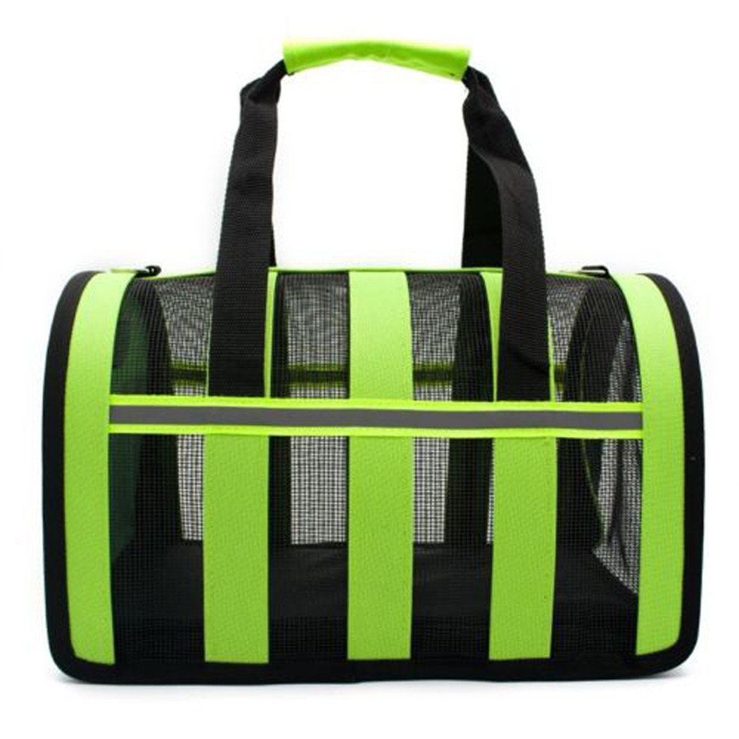 yihya Portable Folding and Bus Train Dog Cat Pet Carrier Cage Pet Carry Bag Soft Sided Puppy Kitten Kennel Travel Carry Bag Small 35/* 21/* 20/cm