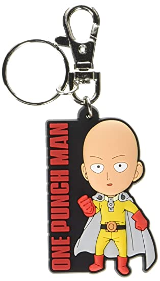 Great Eastern Animation One Punch Man Sd Saitama Standing PVC Keychain, 2