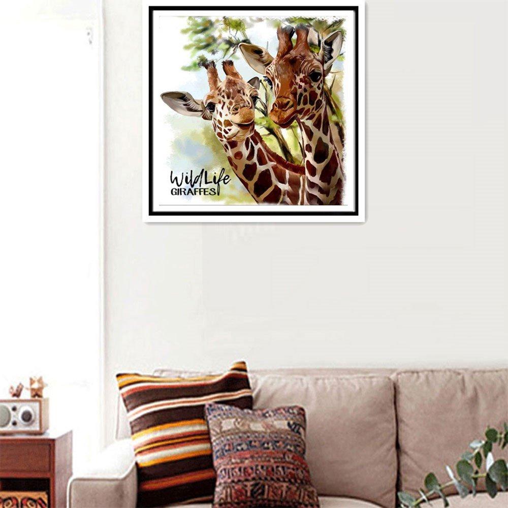 Clearance Venta 5D - Papel pintado para pared, diseño de jirafa con diamantes de imitación y bordado natural, 30 x 30 cm: Amazon.es: Juguetes y juegos