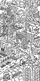 Canvas On Demand Circle Kids Removable Wallpaper Tile for Coloring, 24'' x 48'', entitled 'Extraordinary New York City'