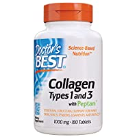 Doctor's Best Collagen Types 1 and 3 with Peptan, Non-GMO, Gluten Free, Soy Free...