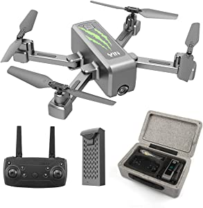 HR Foldable Drones With Camera For Adults,RC Drone Quadcopter With 1080p HD Camera Live Video,Long Flying Time,Altitude Hold,One Key Start/Land,Easy Flying Drone For Beginners