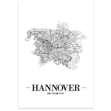 Chemnitz JUNIWORDS Stadtposter Kunstdruck Plan Map Weiß