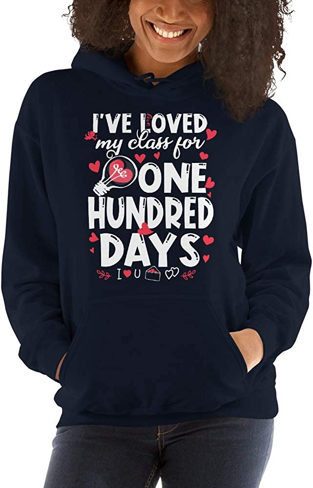 TEEPOMY Ive Loved My Class for 100 Days of School 100th Day Teacher Unisex Hoodie