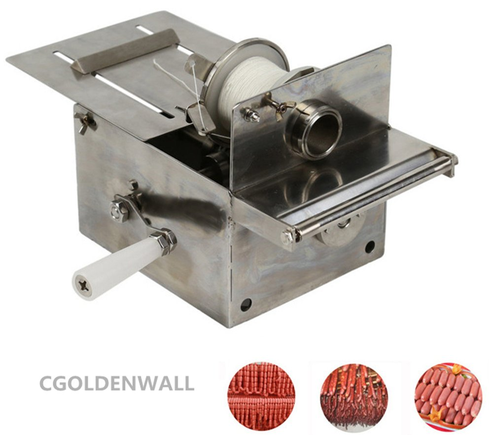 Handle Stainless steel sausage tying knotting machine sausage casings binding machine smoked sausage knot machin sausage linker machine (Max. Sausage diameter: 0-32mm) by CGOLDENWALL