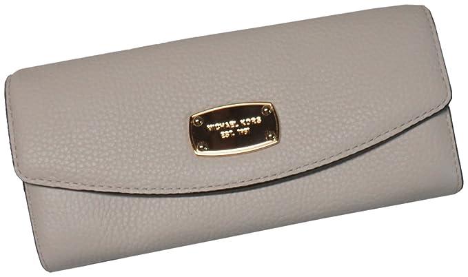 b68d8c8c2dc331 Michael Kors Jet Set Item Slim Flap Leather Wallet Ecru at Amazon ...