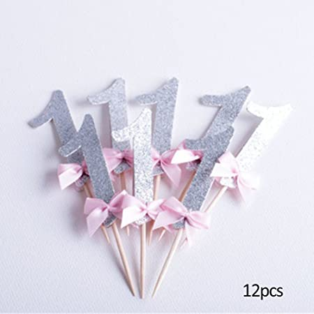 Brillante lazo corbata para decoración de cupcakes tarta insertar ...