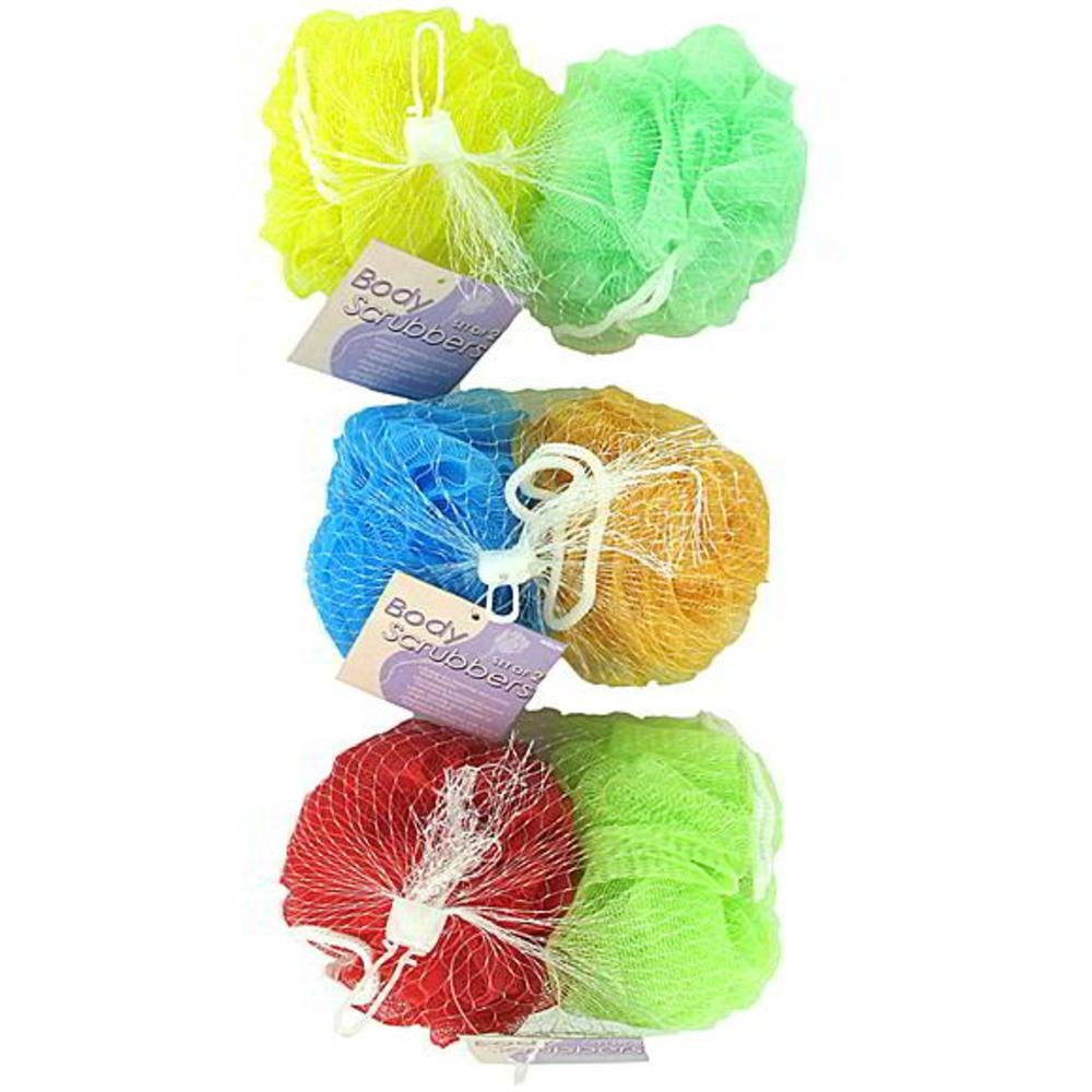 48 Pack of Mesh body scrubbers (set of 2) by bulk buys