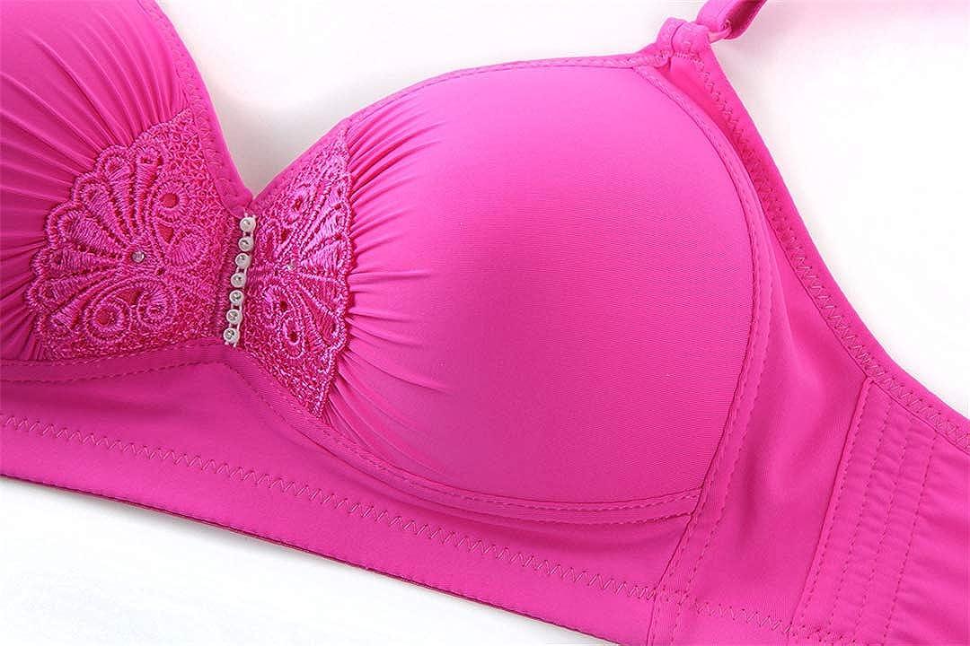 underwear No Rims Bras Women Size 95 42 BCD Thin Wireless Bra Push Up Full Cup Womens Lingeries Pink B 38