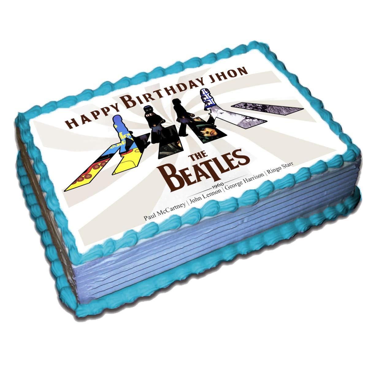 7.5 GUITAR EDIBLE ICING BIRTHDAY CAKE TOPPER