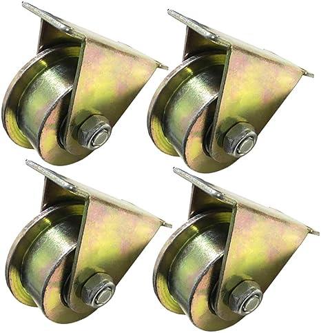 4piezas Ruedas para Puerta Corrediza tipo T de 2.5